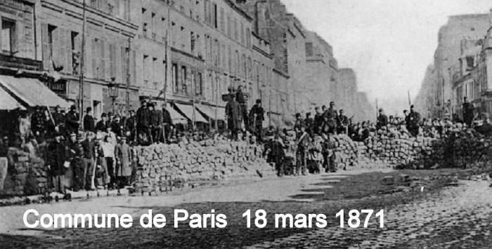 COMMUNE DE PARIS 18 MARS 1871
