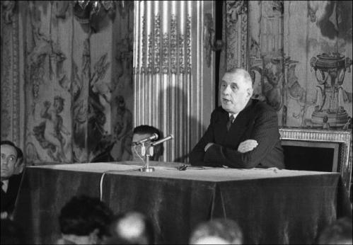 DE GAULLE 25 MARS 1959 CONFÉRENCE DE PRESSE