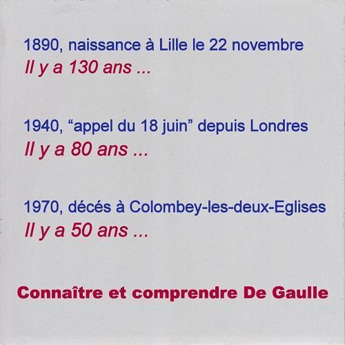 DE GAULLE TROIS DATES HISTORIQUES