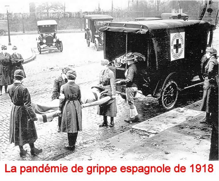 PANDEMIE DE LA GRIPPE ESPAGNOLE DE 1918