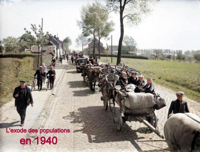 L'EXODE DES POPULATIONS EN 1940