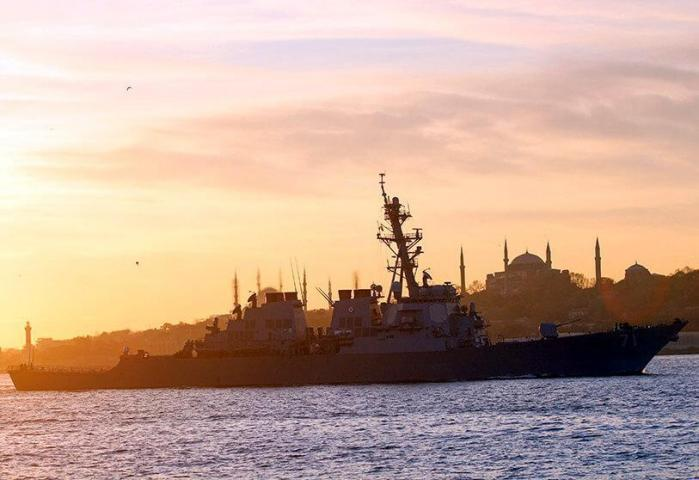 DESTROYER AMERICAIN USS ROSSSUR LE BOSPHORE