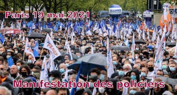 POLICIERS MANIFESTATION A PARIS DU 19 MAI 2021
